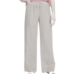 Eileen Fisher Organic Linen Drawstring Pants XL
